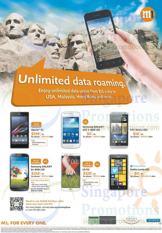 Sony Xperia Z1, Samsung Galaxy Ace 3, Samsung Galaxy S4, LG G2, Nokia Lumia 625, HTC Desire 601