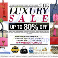 Read more about Nimeshop Branded Handbags Sale Up To 80% Off @ Mandarin Orchard 5 Apr 2014