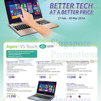 Read more about Acer Notebooks, Desktop PCs, Tablets & Monitors Price List 27 Feb - 30 Mar 2014