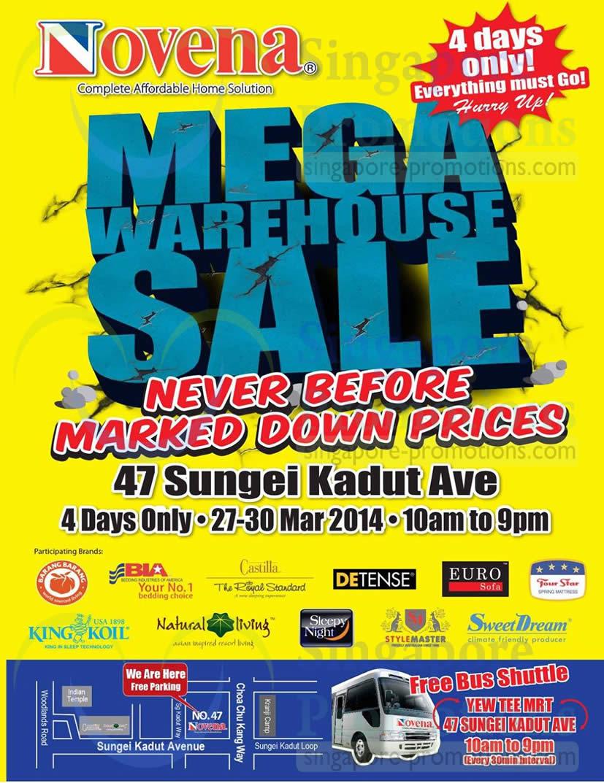 Novena Mega Warehouse Event Details