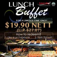 Read more about Sakura International Buffet Restaurant $19.90 Lunch Buffet Promo 27 Mar - 2 Apr 2014