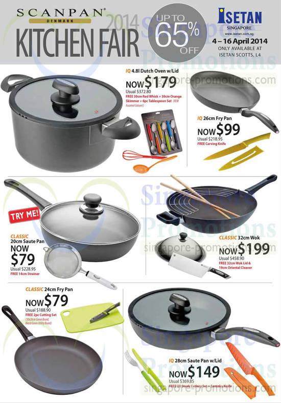 Scanpan Kitchen Fair Saute Pan, Fry Pan, Wok, Dutch Oven