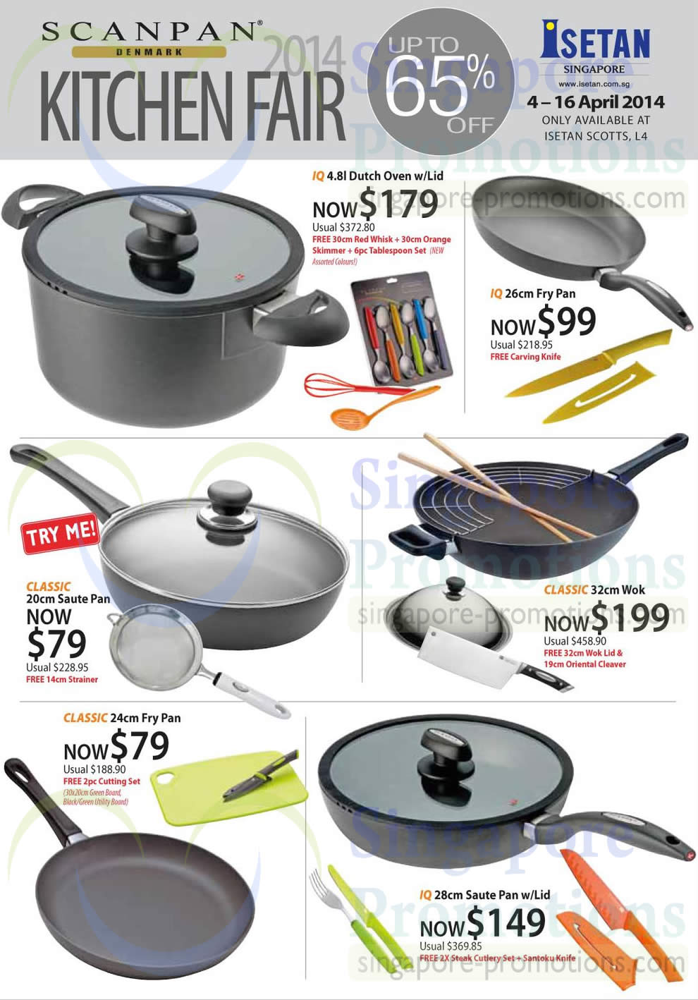Scanpan Kitchen Fair Saute Pan, Fry Pan, Wok, Dutch Oven