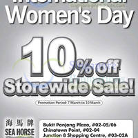 Read more about Sea Horse 10% OFF Storewide SALE 7 - 10 Mar 2014