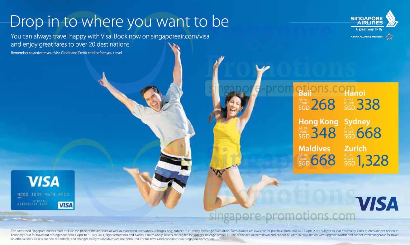 Singapore Airlines Visa 1 Apr 2014