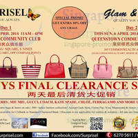 Read more about Surprisel Branded Handbags Sale Up To 75% Off @ Two Locations 5 - 6 Apr 2014