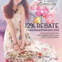 Read more about Tangs 12% Rebate Promo For Citibank & Tangs Cardmembers 7 - 8 Mar 2014
