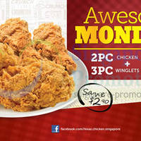 Read more about Texas Chicken $6 2pc Chicken & 3pc Winglets Mondays Promo 24 Mar 2014