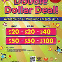 Read more about Timezone 100% Extra Double Dollar Promo (Weekends) 8 - 30 Mar 2014