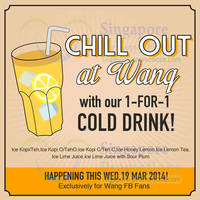Read more about Wang Café 1 For 1 Cold Drink One Day Promo 19 Mar 2014