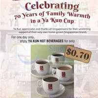 Read more about Ya Kun Kaya Toast 70 Cents Hot Beverages One Day Promo 3 Mar 2014