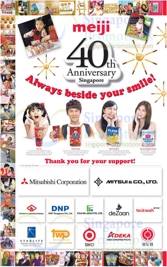 Yan Yan, Hello Panda, Crackers, Amino Collagen, Sponsor Partners