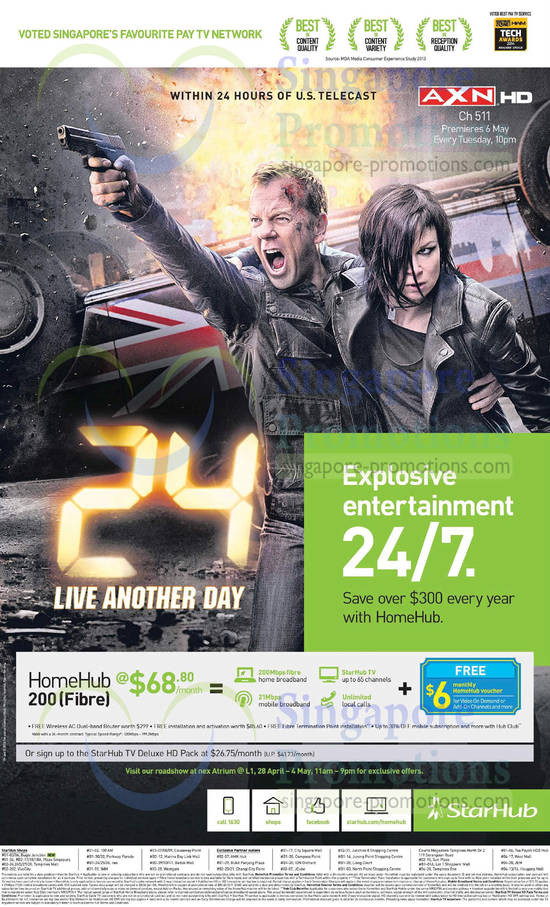 27 Apr Starhub Roadshow Nex, HomeHub 200Mbps 68.80