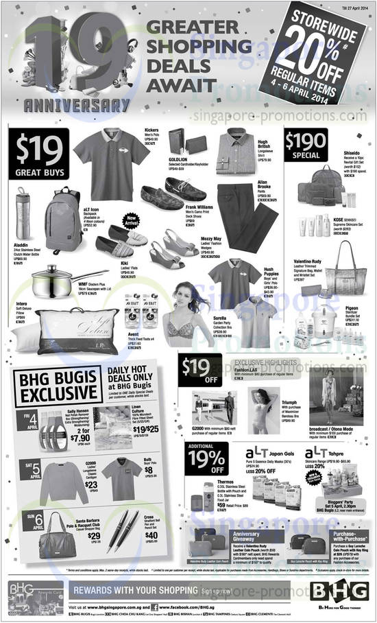 4 apr 19 dollar great buys 190 dollar specials 19 dollar for Bhg shopping