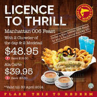 Read more about Manhattan Fish Market Dine-In Discount Coupons 1 - 30 Apr 2014