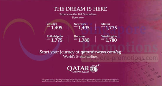 6 May Qatar 787 Dreamliner Flights