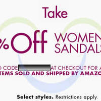Read more about Amazon.com 20% OFF Women's Sandals Coupon Code (NO Min Spend) 26 Apr - 1 May 2014