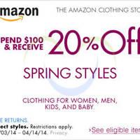 Read more about Amazon.com 20% OFF Women, Men, Kids & Baby Apparel Coupon Code 3 - 14 Apr 2014
