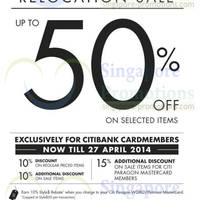 Read more about Anteprima Up To 50% OFF Relocation SALE @ Paragon 4 - 27 Apr 2014
