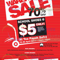 Read more about Bata Up To 70% OFF Warehouse SALE @ Toa Payoh Safra 18 - 20 Apr 2014