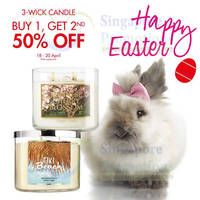 Read more about Bath & Body Works Buy 3 Get 1 FREE 3-Wick Candles 18 - 20 Apr 2014