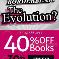 Read more about Borders 40% OFF Books & 30% OFF Stationery Promo 4 - 13 Apr 2014