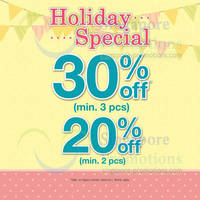 Read more about Bossini 20% OFF Holiday Special Promotion 17 - 20 Apr 2014