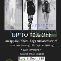 Read more about Branded Bazaar SALE Up To 90% OFF @ Mandarin Orchard 7 - 11 Apr 2014