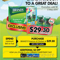 Read more about Brand's Essence of Chicken $29.90 12 Bottles Promo @ Esso 24 Apr - 5 May 2014