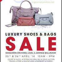 Read more about Brandsfever Handbags & Footwear Sale @ Mandarin Orchard 25 - 26 Apr 2014
