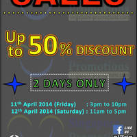 Read more about Campers' Corner Up To 50% OFF SALE 11 - 12 Apr 2014