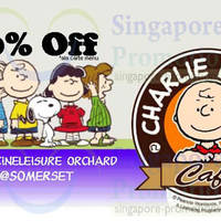 Read more about Charlie Brown Cafe 20% OFF Dine-In Coupon 9 Apr 2014