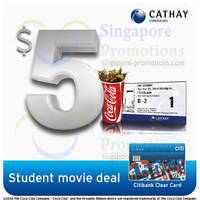 Read more about Cathay Cinemas $5 Ticket & Coke Weekdays Student Citibank Clear Promo 7 Apr - 31 Dec 2014