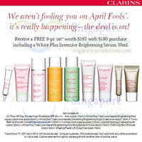 Read more about Clarins FREE 9pc Set Worth $193 With $180 Purchase 1 - 30 Apr 2014