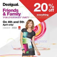 Read more about Desigual 20% OFF Storewide @ All Outlets 4 - 5 Apr 2014