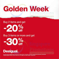 Read more about Desigual Buy 2 Items & Get 20% OFF Promo 1 - 7 May 2014