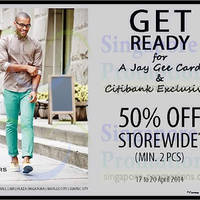 Read more about Dockers 50% OFF Storewide For Citibank & Jay Gee Cardmembers 17 - 20 Apr 2014