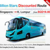 Read more about Billion Stars From $16.80 Coach To KL Promo 10 Apr 2014