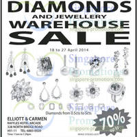 Read more about Elliott & Carmen Diamonds & Jewellery Warehouse Sale 18 - 27 Apr 2014