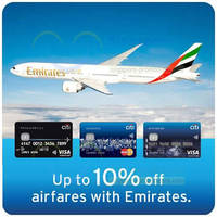 Read more about Emirates 10% OFF Discount Coupon Code For Citibank Cardmembers 2 Feb - 31 Dec 2015