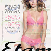 Read more about Etam Buy 3pcs Get 30% OFF Anniversary Promo 1 - 4 May 2014