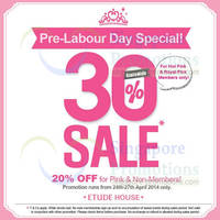 Read more about Etude House 20% OFF Storewide SALE 24 - 27 Apr 2014