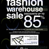 Read more about Branded Fashion Warehouse SALE 23 - 26 Apr 2014