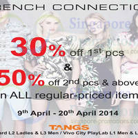 Read more about French Connection 50% OFF Storewide @ Tangs 9 - 20 Apr 2014