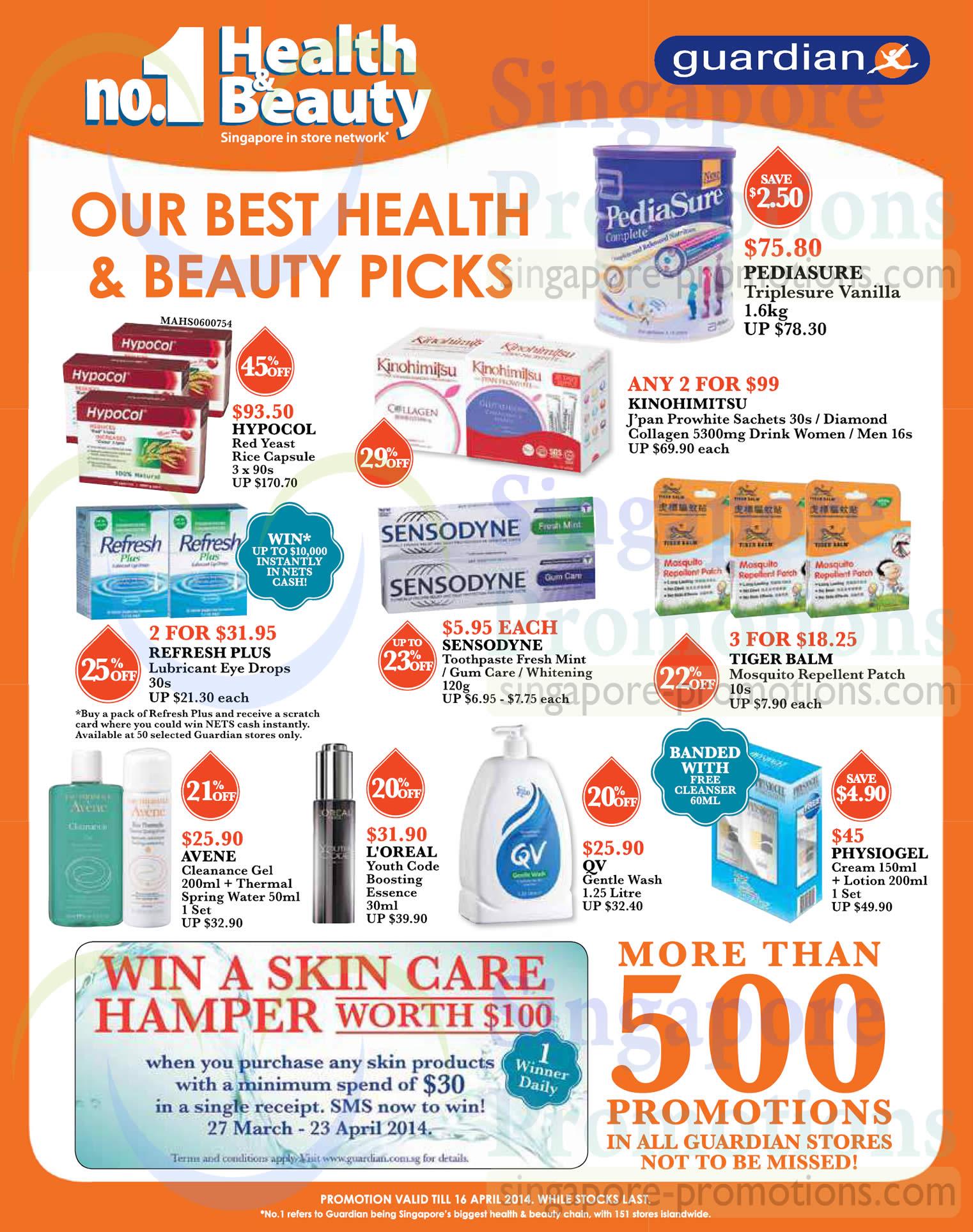 Health n Beauty Picks Pediasure, Hypocol, Sensodyne, Loreal, QV, Physiogel, Avene