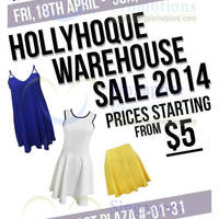 Read more about Hollyhoque Warehouse SALE @ Far East Plaza 18 - 20 Apr 2014