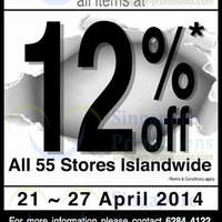 Read more about Japan Home 12% OFF Storewide Stock Take Clearance Sale 21 - 29 Apr 2014