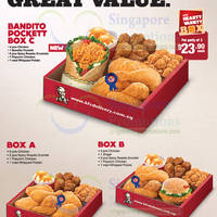 Read more about KFC Delivery Bandito Pockett Now In NEW Hearty Variety Box C 9 Apr 2014