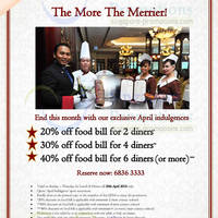Read more about Lawry's The Prime Rib Up To 40% OFF Bill Promo 28 - 30 Apr 2014