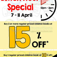 Read more about MPH Bookstores 15% OFF Children's Books 2Hr Lunch Hour Promo @ Raffles City 7 - 11 Apr 2014